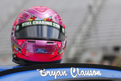 Bryan Clauson's name on the car of Ricky Stenhouse Jr., Roush Fenway Racing Ford