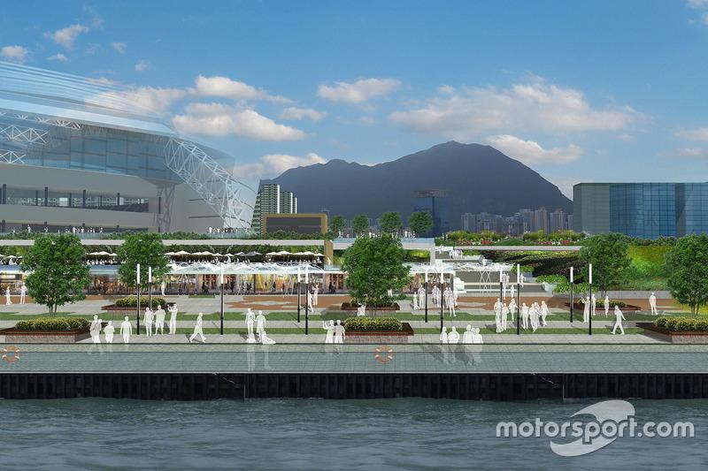 Representación de Kai Tak Sports Park
