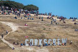Fans kijken naar de race op Laguna Seca