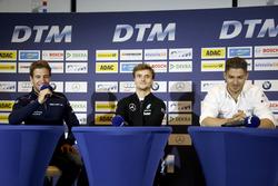 Press Conference: António Félix da Costa, BMW Team Schnitzer, BMW M4 DTM; Lucas Auer, Mercedes-AMG Team Mücke, Mercedes-AMG C63 DTM; Edoardo Mortara, Audi Sport Team Abt Sportsline, Audi RS 5 DTM