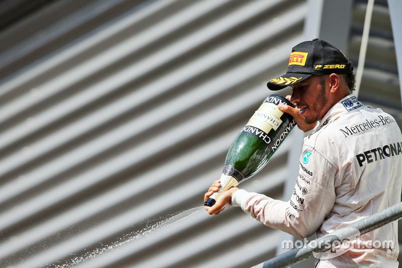 Podyum: 3. Lewis Hamilton, Mercedes AMG F1
