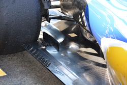 Sauber C35, dettaglio del fondo