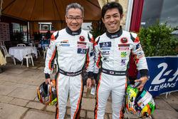 #61 Clearwater Racing Ferrari 458 Italia: Mok Weng Sun and Keita Sawa