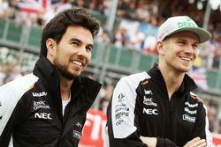 Sergio Pérez, Sahara Force India F1 con su compañero Nico Hulkenberg, Sahara Force India F1