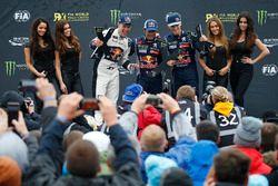 Podium: ganador, Sébastien Loeb, Team Peugeot Hansen, segundo, Reinis Nitiss, Münnich Motorsport, te