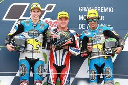 Podium: race winner Sam Lowes, Federal Oil Gresini Moto2, second place Alex Marquez, Marc VDS, third place Franco Morbidelli, Marc VDS