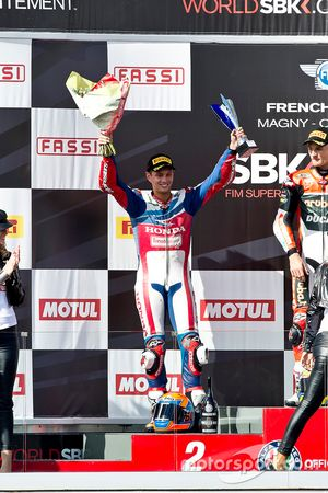 Podio: il secondo classificato Michael van der Mark, Honda World Superbike Team