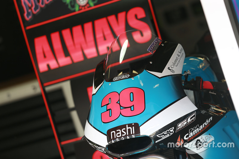 La moto de Luis Salom, SAG Racing Team
