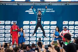 Podium: Ganador, Sebastien Buemi, Renault e.dams; Lucas di Grassi, ABT Schaeffler Audi Sport and Nic