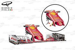 Ferrari SF16-H old vs new nose comparison, Japanese GP