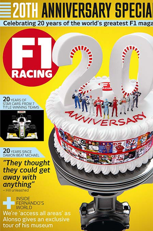 F1 Racing 20th anniversary cover