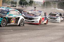 Scott Speed, Volkswagen; Joni Wiman, Honda; Sebastian Eriksson, Honda