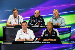 The FIA Press Conference (from back row (L to R): Mike O'Driscoll, Williams Group CEO; Franz Tost, S