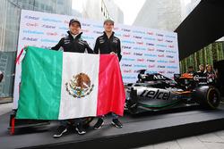Sergio Perez, Sahara Force India F1; Nico Hülkenberg, Sahara Force India F1