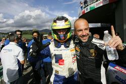 Gianluca Carboni e Davide Durante, Drive Technology festeggiano la vittoria di Gara 1 GTCup