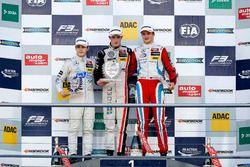 Rookie Podium: first place Joel Eriksson, Motopark Dallara F312 - Volkswagen; second place David Bec