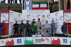 Podio Gara 2 Super GTCup: al secondo posto Bar Baruch e Jacopo Faccioni, Vincenzo Sospiri Racing, i