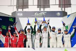 Podium GTE AM: race winners #98 Aston Martin Racing Aston Martin Vantage GTE: Paul Dalla Lana, Pedro
