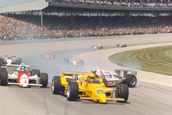 Al Unser, Penske Racing, March-Cosworth, Kevin Cogan, Patrick Racing, March-Chevrolet, Josele Garza, Machinists Union Racing, March-Cosworth