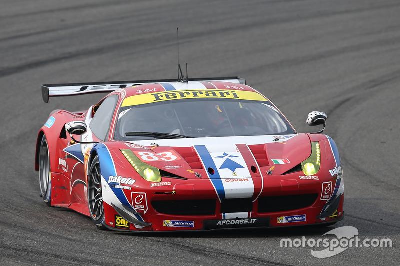 4. LMGTE-Am: #83 AF Corse, Ferrari 458 Italia