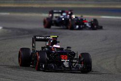 Дженсон Баттон, McLaren MP4-31, и Стоффель Вандорн, McLaren MP4-31