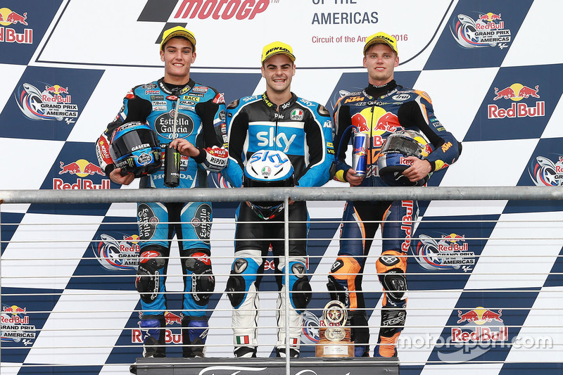 Podium: 1. Romano Fenati, SKY Racing Team VR46, KTM;2. Jorge Navarro, Estrella Galicia 0,0, Honda; 3. Brad Binder, Red Bull KTM Ajo, KTM