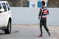 Romain Grosjean, Haas F1 Team retourne aux stands