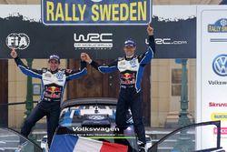 Les vainqueurs Sébastien Ogier, Julien Ingrassia, Volkswagen Motorsport