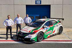 Tiago Monteiro, Rob Huff, Norbert Michelisz, Honda Racing Team JAS