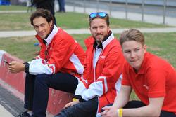Nick Heidfeld, Bruno Senna und Danny Webb, Mahindra Racing