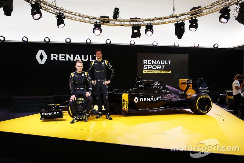 Кевин Магнуссен, Renault F1 Team и Джолион Палмер, Renault F1 Team
