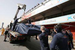 Scuderia Toro Rosso STR11 of Max Verstappen Scuderia Toro Rosso back to the pits