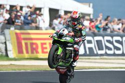Le vainqueur Jonathan Rea, Kawasaki Racing Team