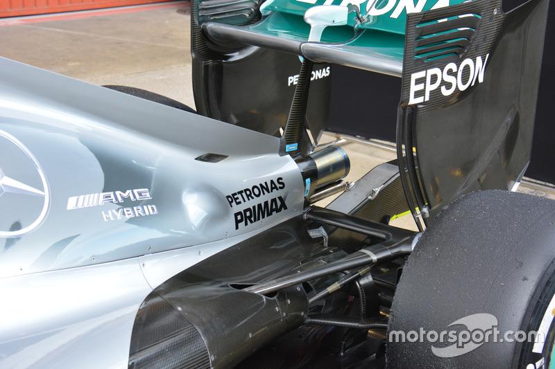 Auspuff, Mercedes AMG F1 W07