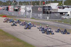 Micro ROK race towards turn one