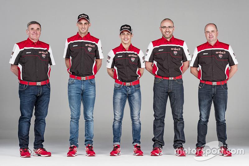 Michael Ruben Rinaldi und Leandro Mercado, Aruba.it Ducati SuperStock 1000 Junior Team