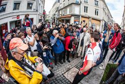 Hand imprint ceremony: 24 Hours of Le Mans 2015 winners Porsche Team Nick Tandy and Earl Bamber
