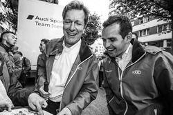 Audi Sport Team Joest Managing Director Ralf Jüttner and Benoit Tréluyer