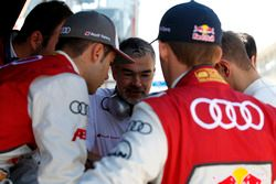 Dieter Gass (GER) Head of DTM Audi Sport with his drivers. 21.05.2016, DTM Round 2, Spielberg, Aust