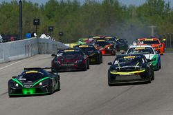Race start with the #13 ANSA Motorsports KTM X-Bow GT4 leading
