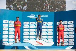 Podium: 1. Sébastien Buemi, Renault e.Dams; 2. Daniel Abt, ABT Schaeffler Audi Sport; 3. Lucas di Gr
