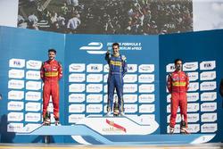 Podium: race winner Sébastien Buemi, Renault e.Dams, second place Daniel Abt, ABT Schaeffler Audi Sp