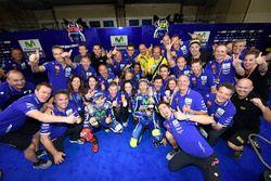 Winner Valentino Rossi, Yamaha Factory Racing, second place Jorge Lorenzo, Yamaha Factory Racing cel