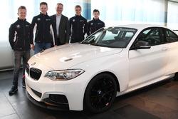 Ricky Collard, Nico Menzel, Jens Marquardt, BMW Motorsport Director, Louis Delétraz and Jesse Krohn