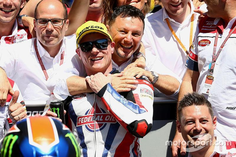 Ganador, Sam Lowes, Federal Oil Gresini Moto2 celebra