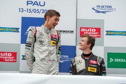 Подиум: Джордж Рассел, HitechGP Dallara F312 – Mercedes-Benz; Каллум Илотт, Van Amersfoort Racing Da