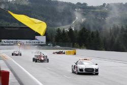 Race end behind the safety car, Lance Stroll, Prema Powerteam, Dallara F312 - Mercedes-Benz