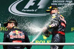 Podium: second position Daniel Ricciardo, Red Bull Racing, third position Max Verstappen, Red Bull Racing