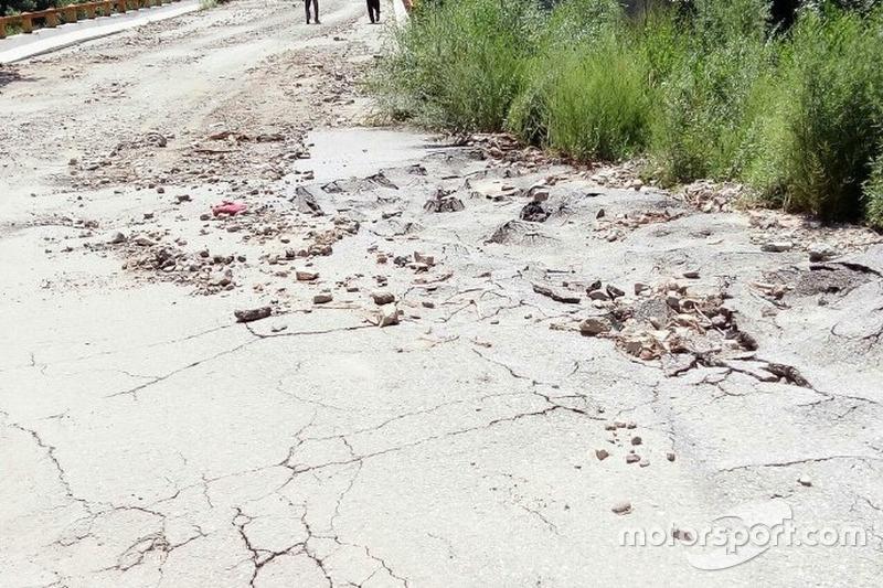 Rally di Cina, il percorso rovinato dalla pioggia