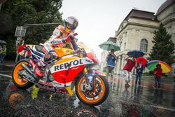 Marc Marquez, Repsol Honda performs at the MotoGP Parade